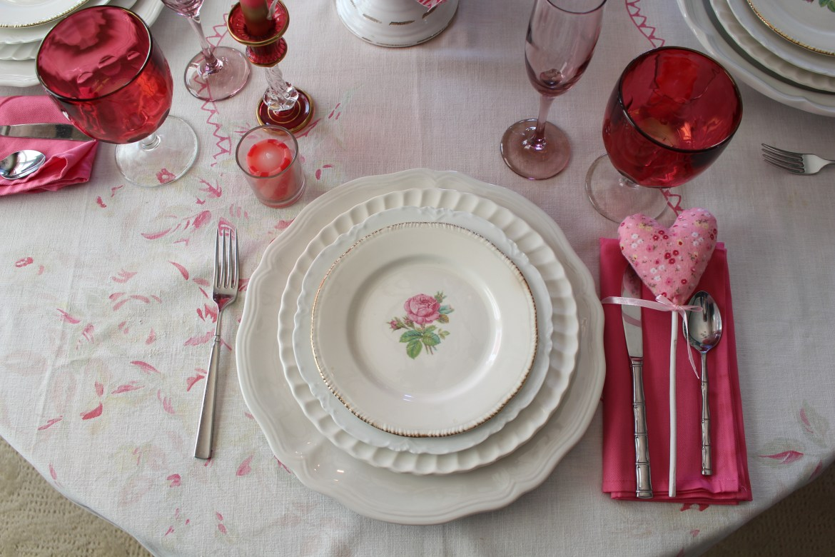 Vintage Valentine's Day Table