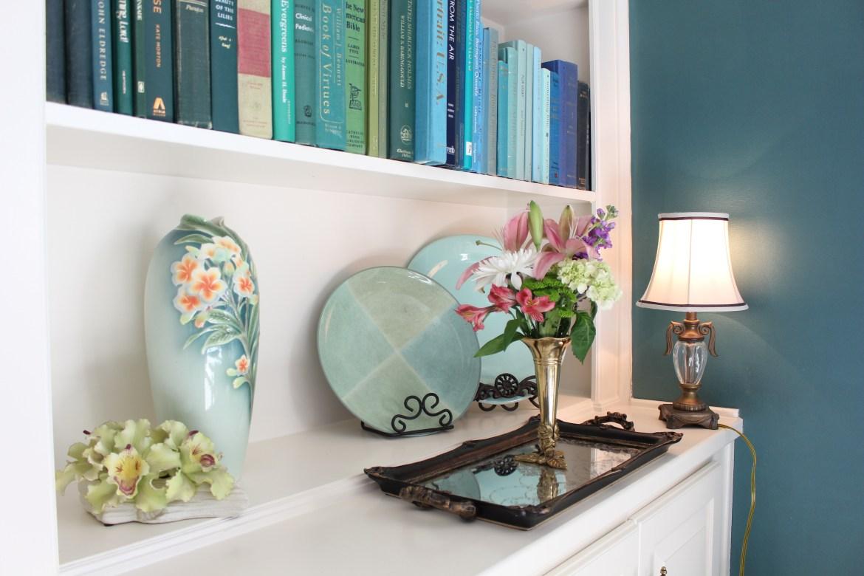 Colorful Bookshelves