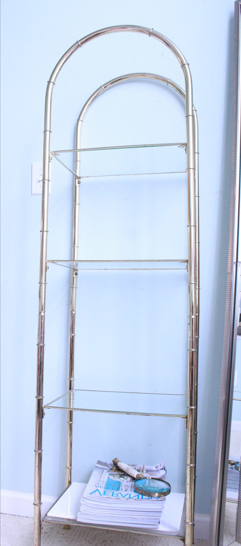 DIY Brass and Glass Shelf Ideas