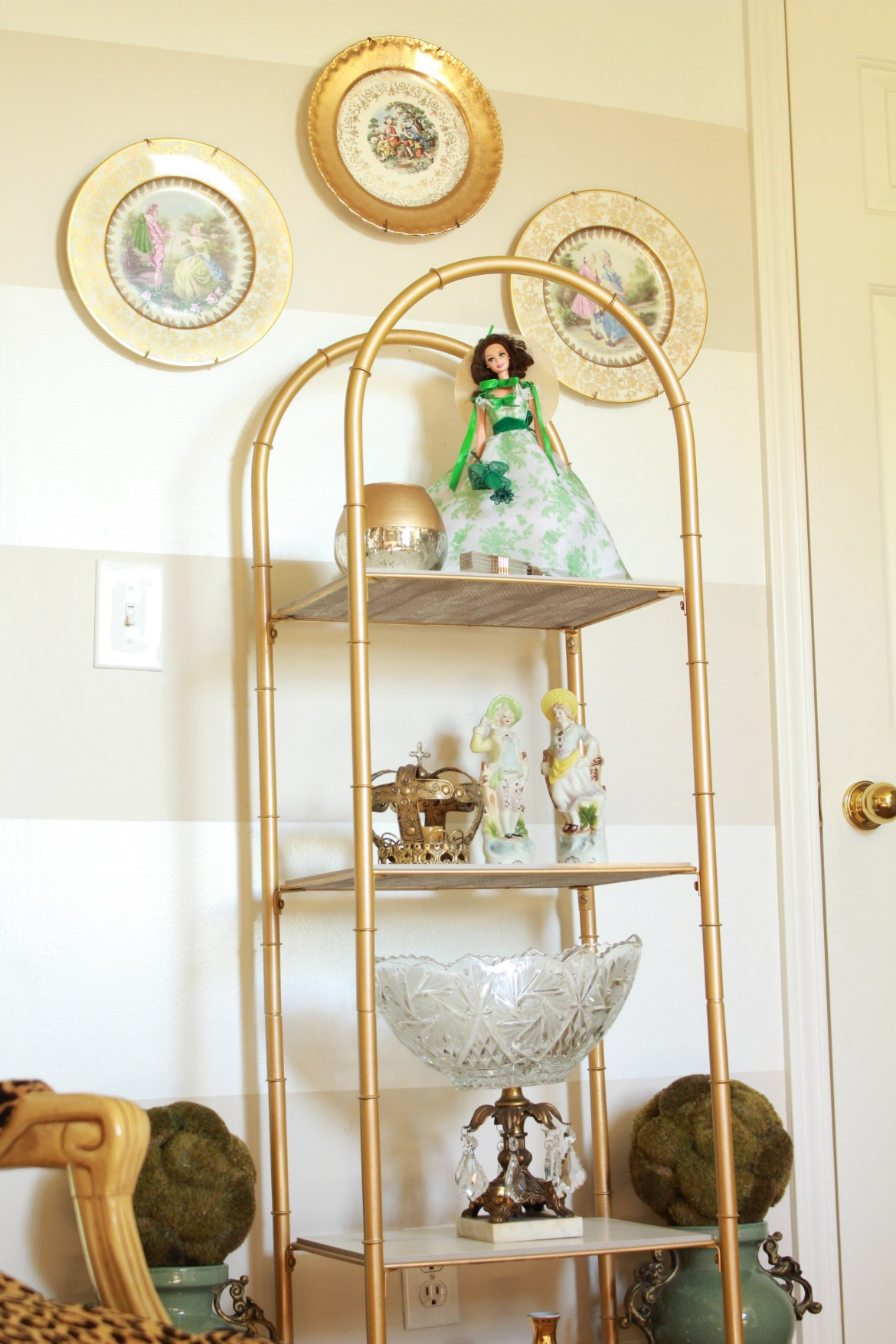 DIY Marble and Gold Shelving Makeover