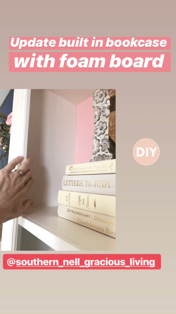 DIY Built in Bookcase with Foam Board
