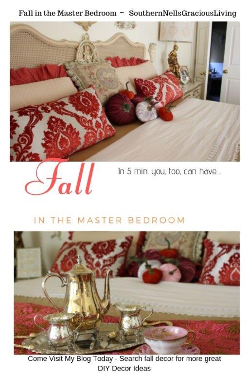 Master Bedroom Makeover For Fall