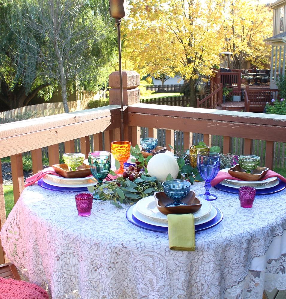 Fall Decor makes Simple Fall Tablescape