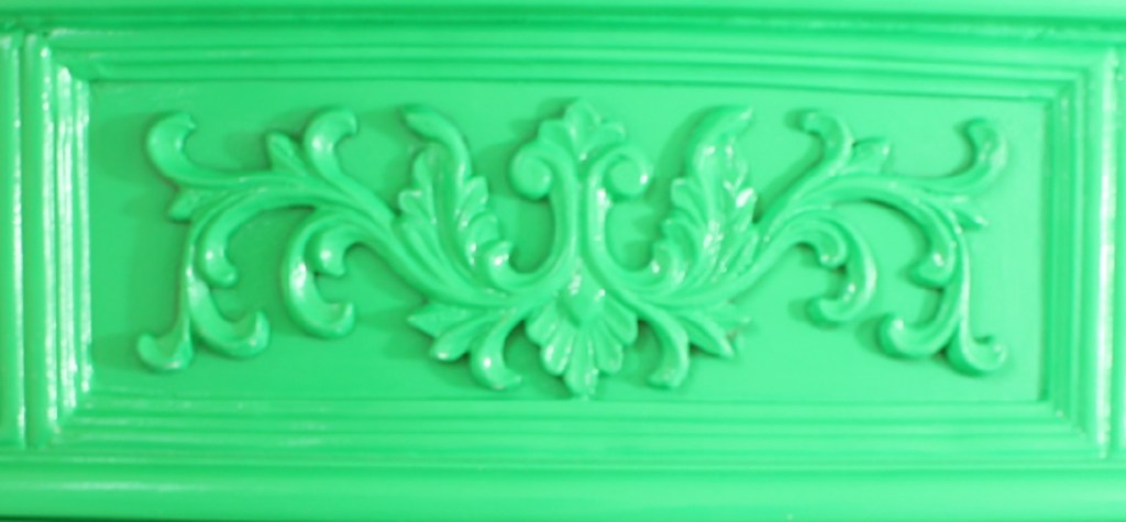Bright Green Lacquered Cabinet