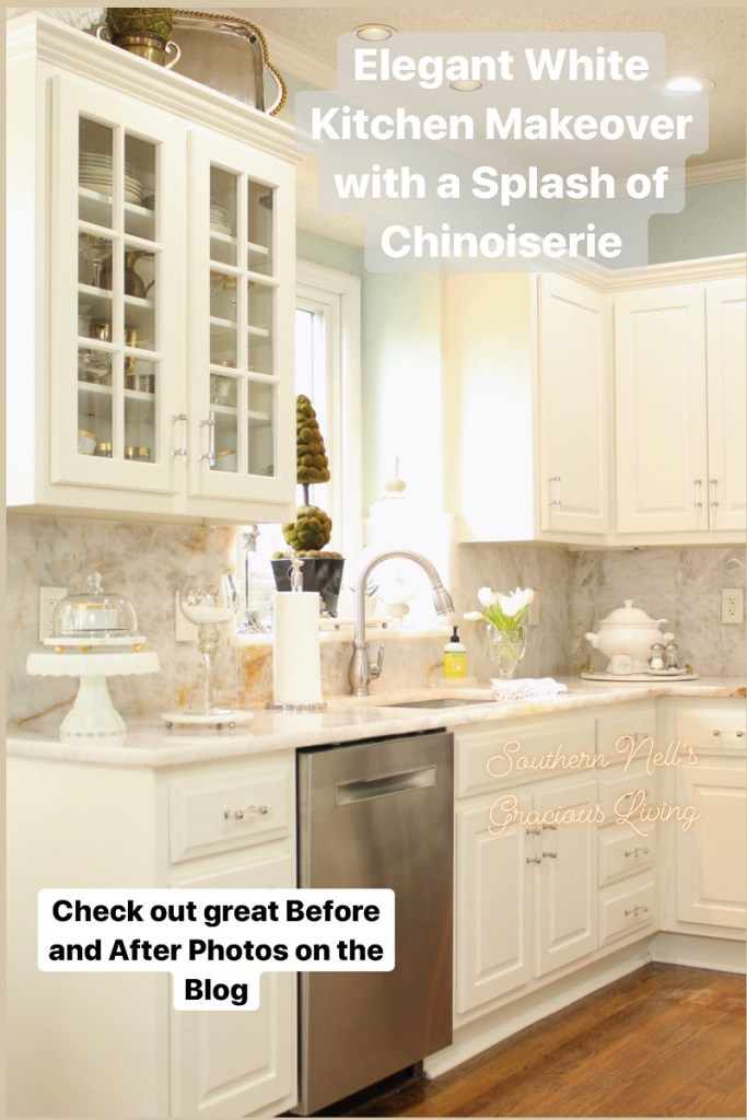 White Kitchen Cabinets with White Quartzite Countertops and white kitchen accessories