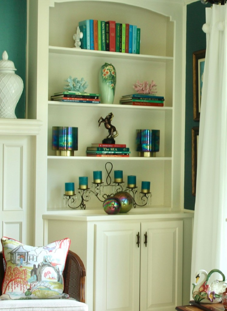 How to Style a Bookcase - No Cost Decorating