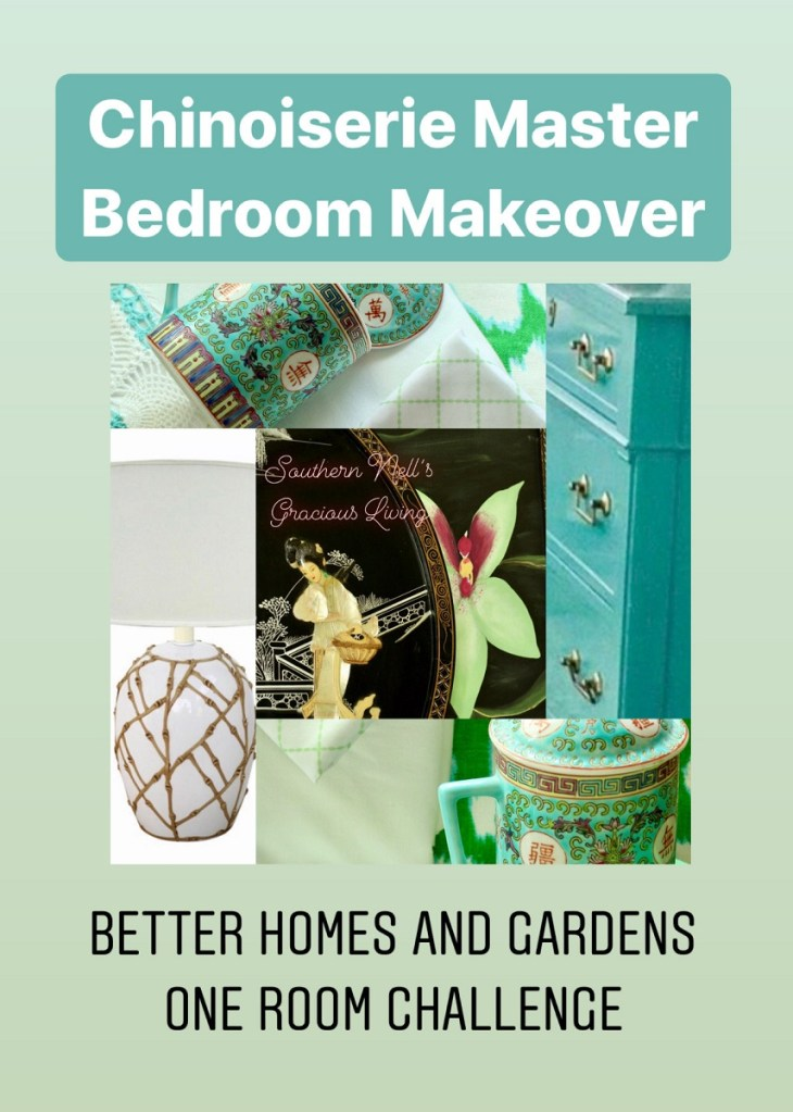 Chinoiserie Chic Master Bedroom Makeover