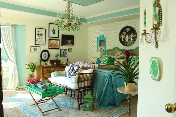 Elegant Vintage Chinoiserie Bedroom Transformation