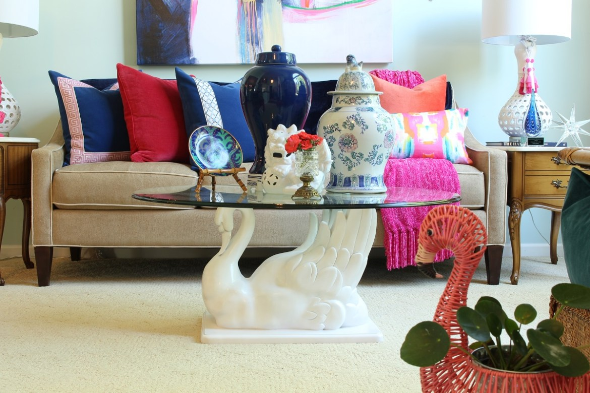 Chinoiserie Chic Living Room