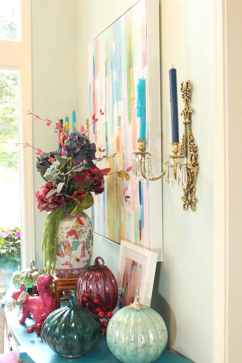 Colorful Fall Foyer