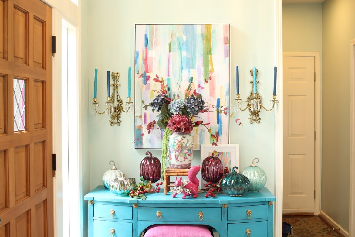 Colorful Fall Entry Way