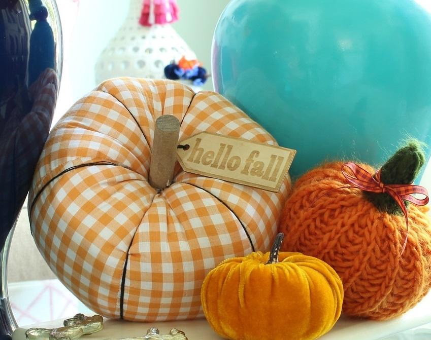 Fall Home Decor Fabric Pumpkins
