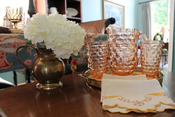 Fall Table Set with Vintage Stemware