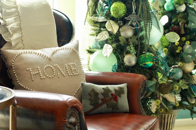 Lime Green and Teal Christmas Tree Decor