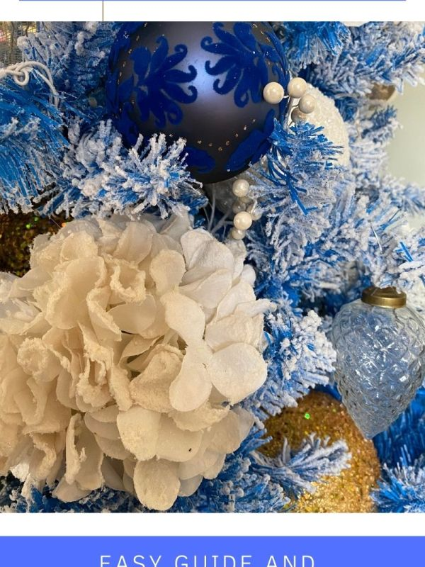 Blue and White Christmas Decorations