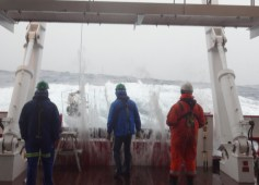 deploying pumps on the aft deck is a cold and wet job