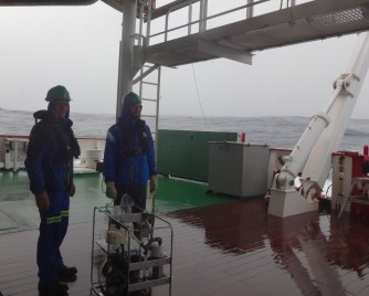 Bjorn and Jean after successful retrieval of pumps