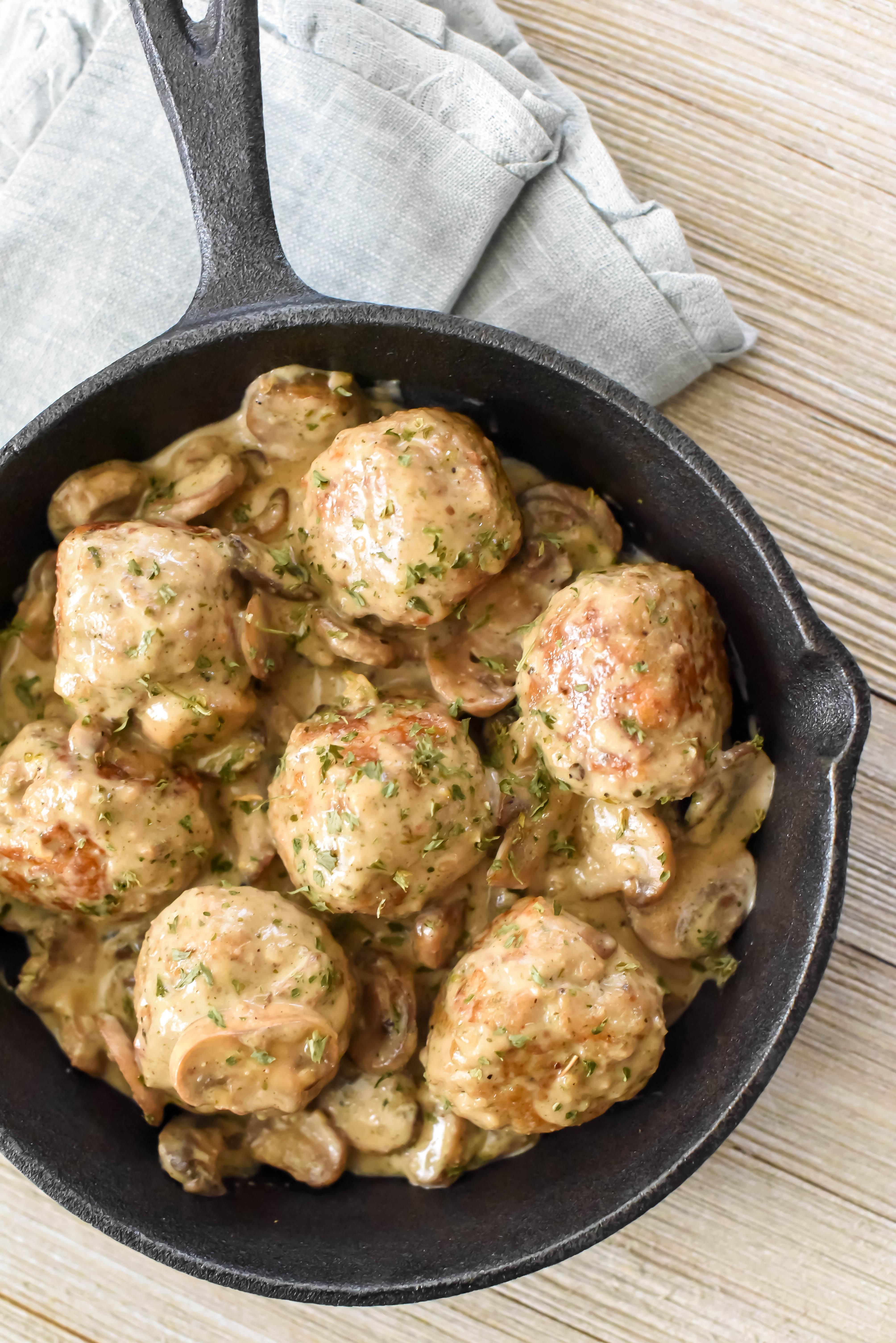 Chicken Marsala Meatballs • Southern Parm