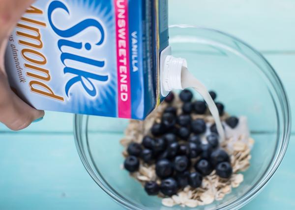 Blueberry Muffin Batter Overnight Oats