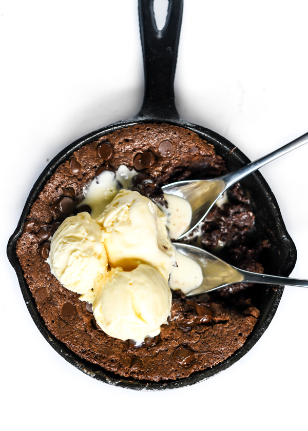 Double Chocolate Brownie Skillet for One