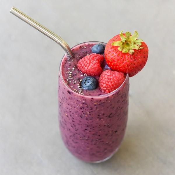Immune Boosting Triple Berry Smoothie