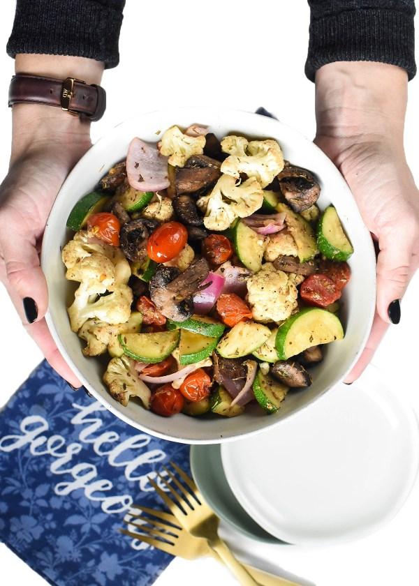 One Pan Italian Roasted Vegetables