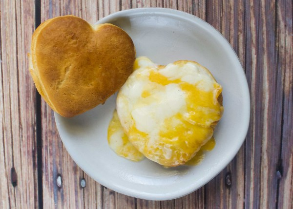 Valentine's Day Cheesy Breakfast Biscuit