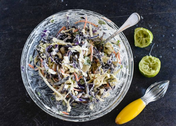 Light & Creamy Cilantro Lime Coleslaw