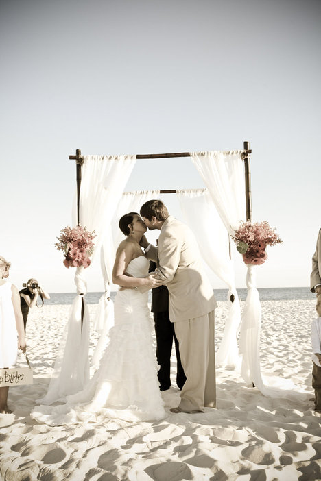 Beach Wedding Ceremony Southern Productions Mississippi