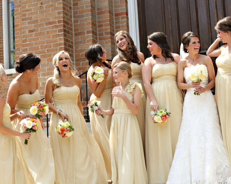 pale-yellow-bridesmaids-dresses