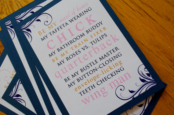 bridesmaids card