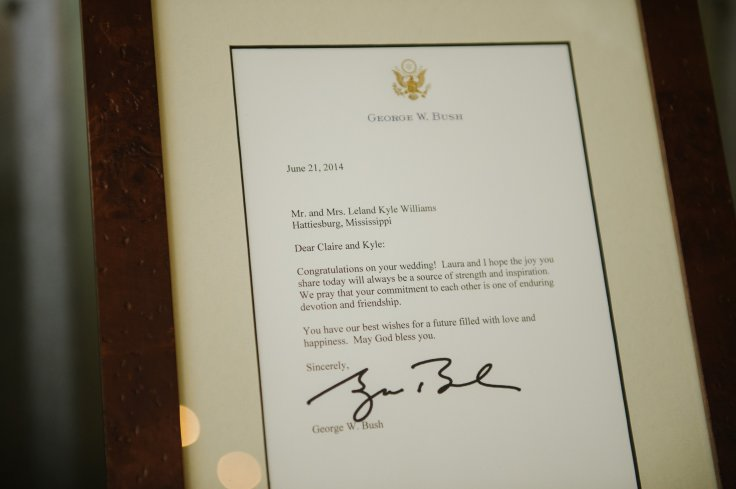 wedding-letter-from-george-bush