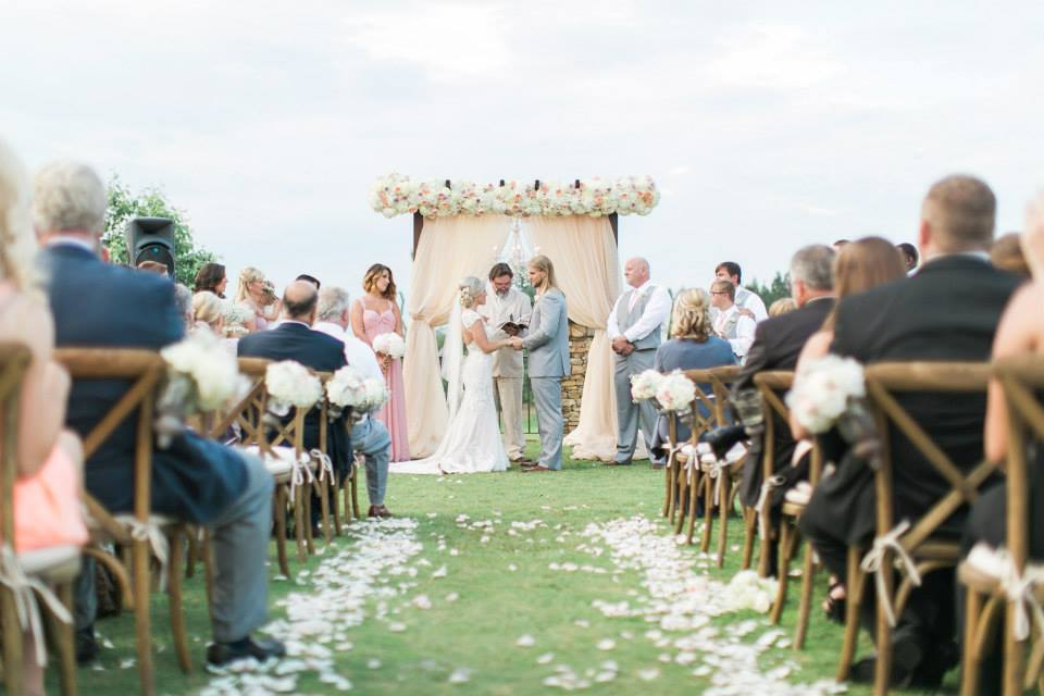 elegant outdoor southern wedding