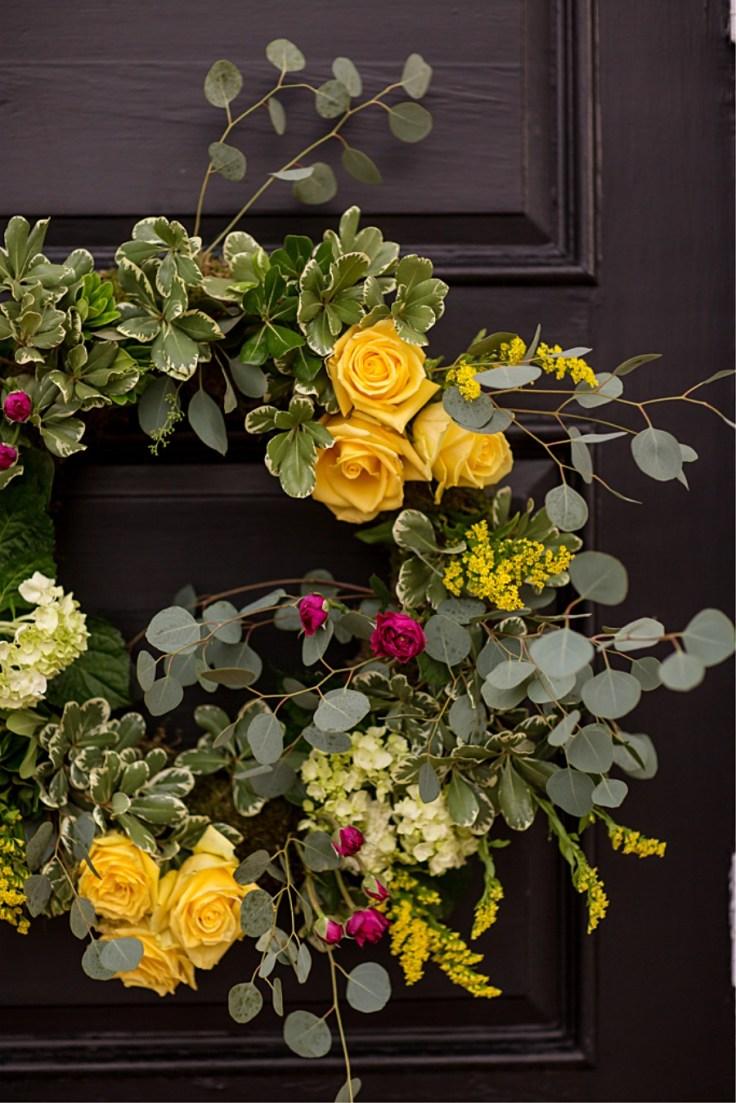 Boho Wedding Wreaths for a Mississippi Wedding