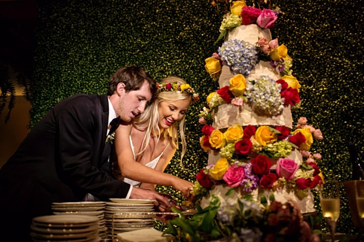 Colorful Wedding Cake at MSU Riley Center