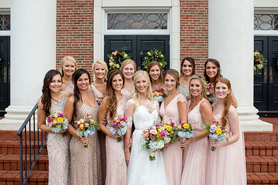 Mississippi Wedding with Blush Bridesmaids Dresses
