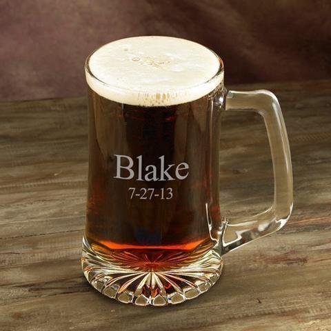 groomsman gift beer mug