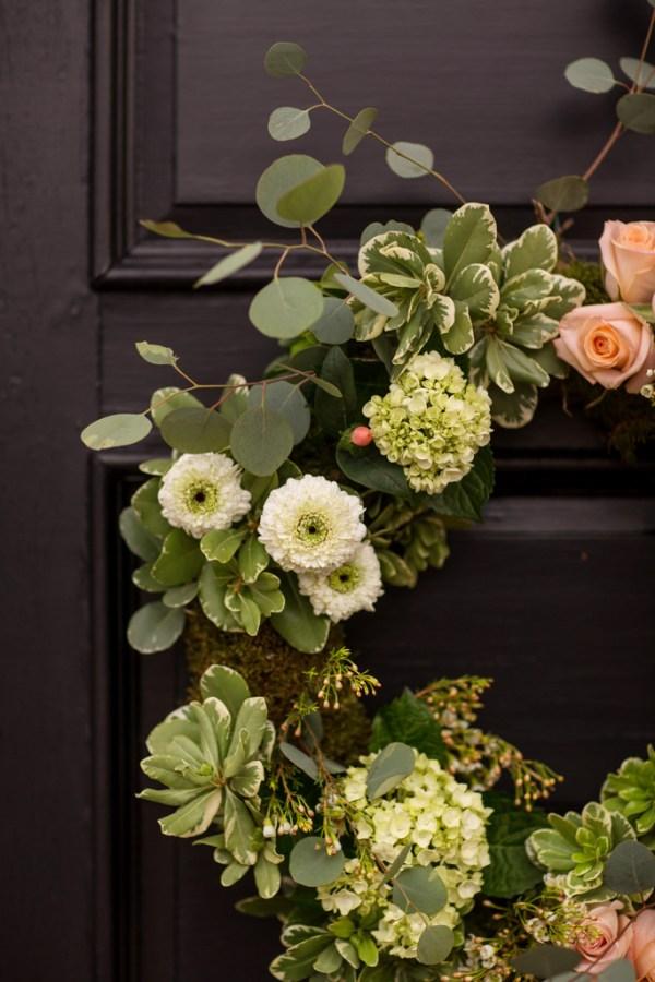 Boho Wedding Wreaths from a Mississippi Wedding