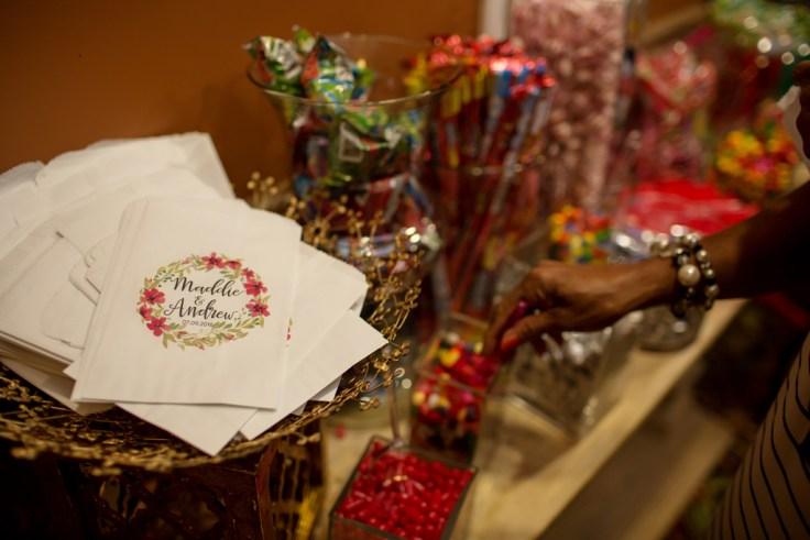 Candy Bar at a Boho Mississippi Wedding