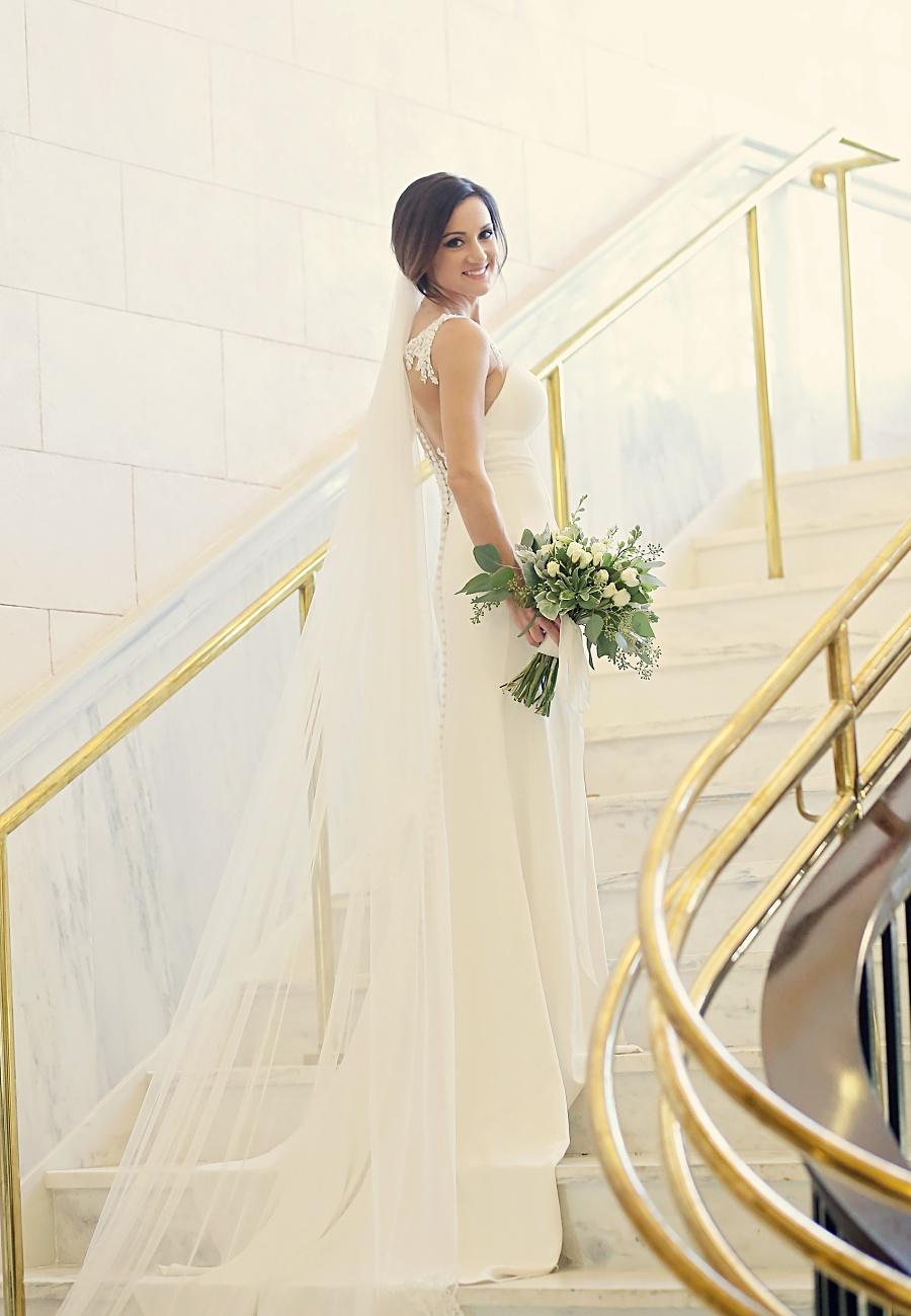 Indoor bridal portrait session meridian ms