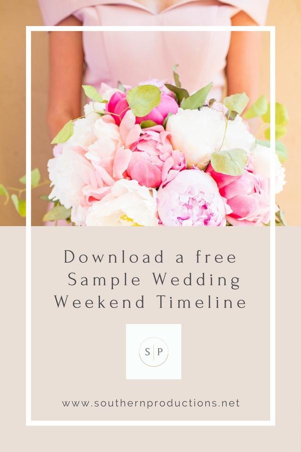 Wedding Weekend Timeline