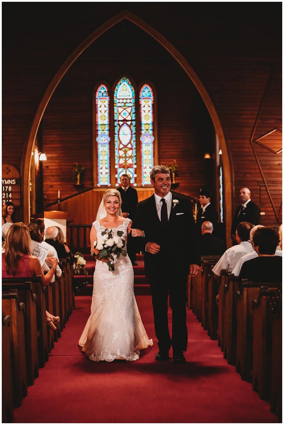 St Mary's Episcopal Church Wedding Enterprise Mississippi