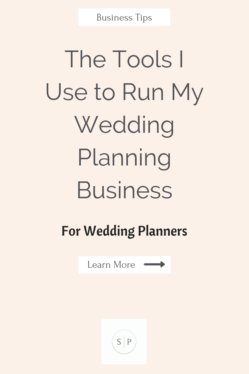 The Tools I Use to Run My Wedding Planning Business