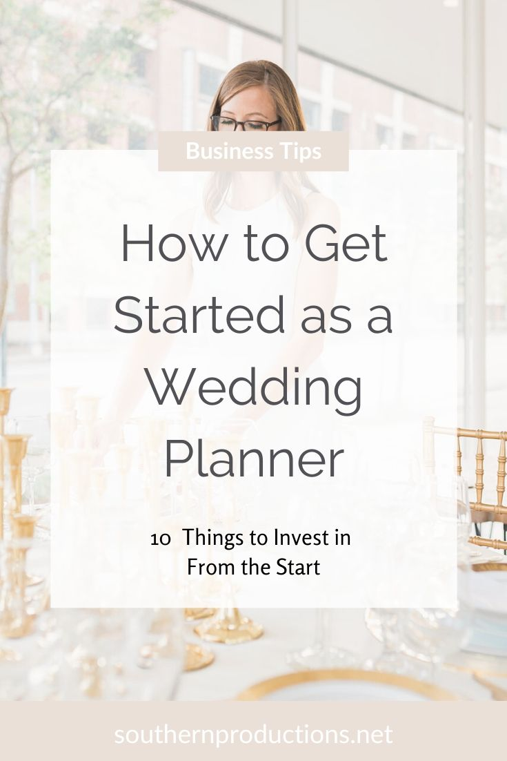 How to Get Started as a Wedding Planner