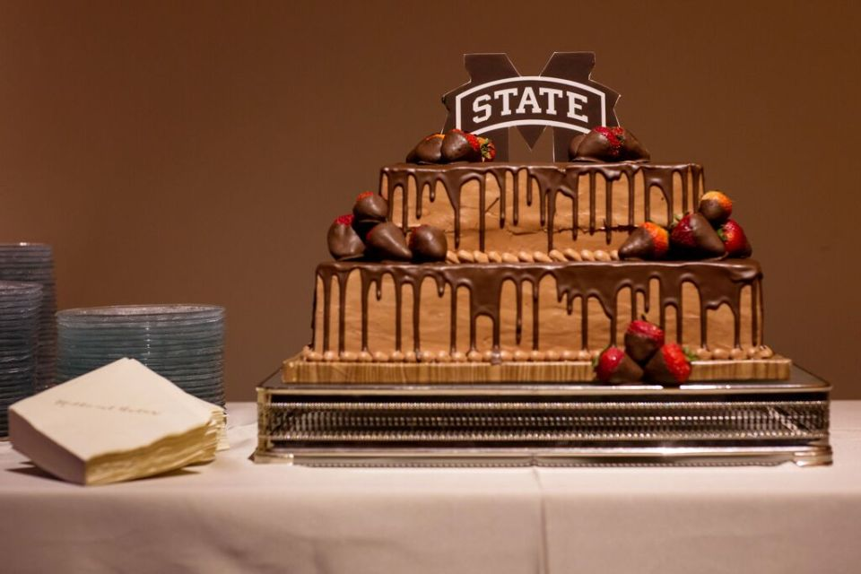 Elegant MSU Grooms Cake