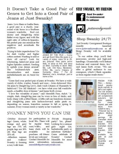 All Things Swanky! Fall Newsletter, page 2