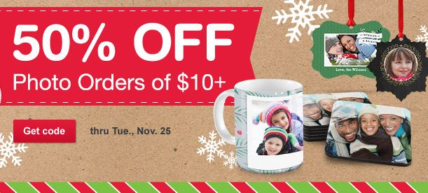 Walgreens Photo Coupon Code: 50% Off Orders Of $10