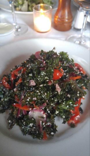 red kale salad