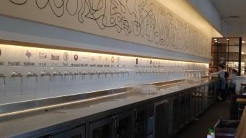 wall of spigots