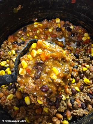 Easy peasy taco soup ready for the Iron Bowl today!